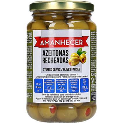 Azeitonas Verdes Recheadas Amanhecer - Supermercado - Mercearia