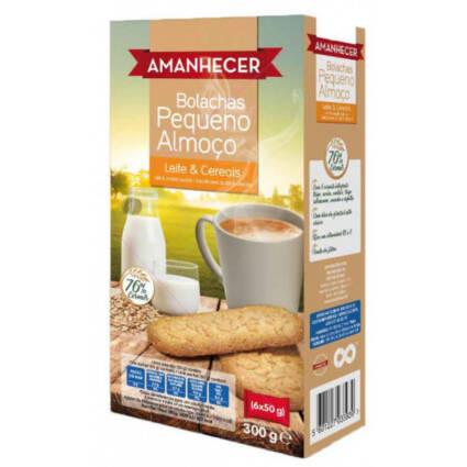 Bolachas Pequeno Almoço com Cereais e Leite 300gr (6x50gr) - Supermercado - Bolachas