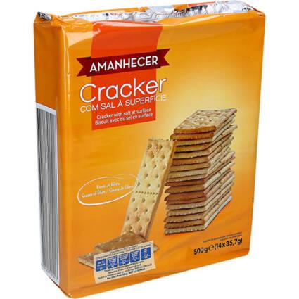 Bolachas Crackers com Sal 500GR - Supermercado - Bolachas