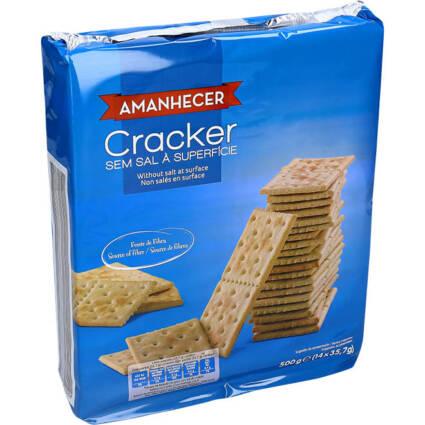 Bolachas Crackers sem Sal 500RGR - Supermercado - Bolachas