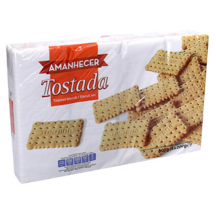 Bolacha Tostada 800GR (4x200g) - Supermercado - Bolachas