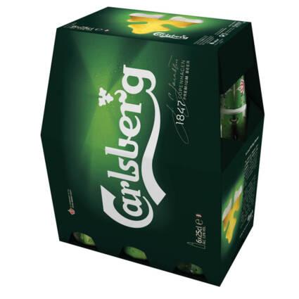 Cerveja com Álcool Carlsberg pack (6x25cl) - Supermercado - Bebidas