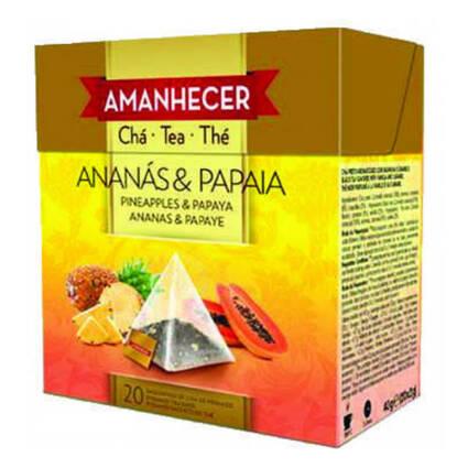 Chá Ananás e Papaia Pirâmides Amanhecer Saquetas (20x2gr) - Supermercado - Mercearia