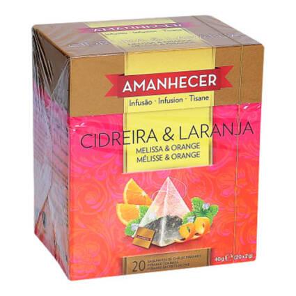 Chá Cidreira e Laranja Pirâmides Amanhecer Saquetas (20x2gr) - Supermercado - Mercearia