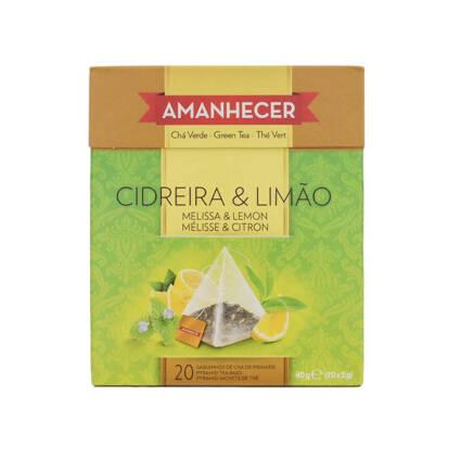 Chá Cidreira e Limão Pirâmides Amanhecer Saquetas (20x2gr) - Supermercado - Mercearia