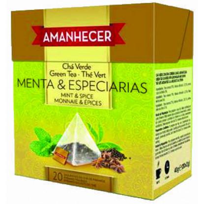 Chá Menta e Especiarias Pirâmides Amanhecer Saquetas (20x2gr) - Supermercado - Mercearia