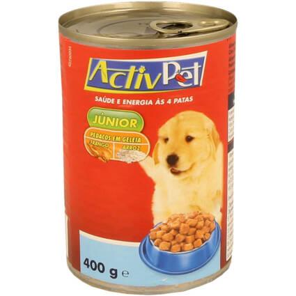 Alimento Húmido Pedaços de Galinha e Arroz em Geleia para Cão júnior - Supermercado - Animais