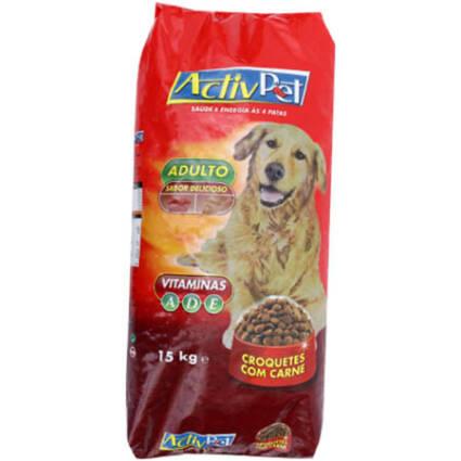 Ração seca para cão de croquetes com carne 15kg - Supermercado - Animais