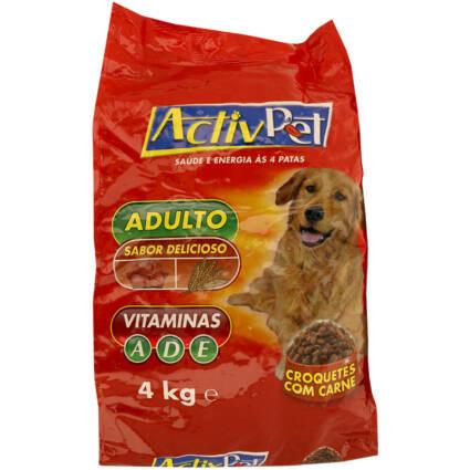 Ração seca para cão de croquetes com carne 4kg - Supermercado - Animais