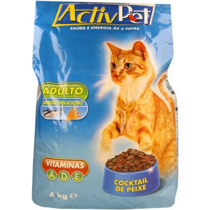 Ração seca de cocktail de peixe para gato - Supermercado - Animais