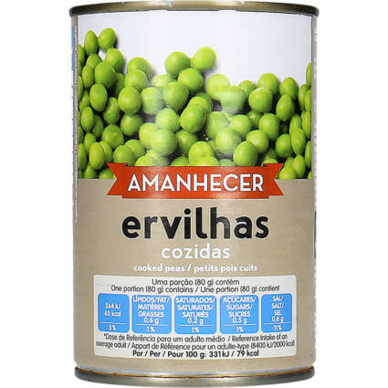 Ervilhas Cozidas Amanhecer - Supermercado - Mercearia