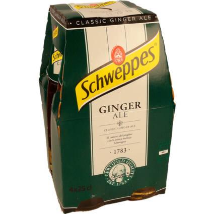 Ginger Ale Schweppes pack (4x25cl) - Supermercado - Bebidas