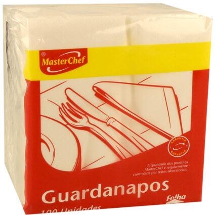 Guardanapo MasterChef Folha Dupla Branco 22x22 - Supermercado - Cuidar da casa
