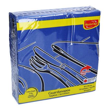Guardanapo MasterChef Folha Dupla Azul 40x40 - Supermercado - Cuidar da casa