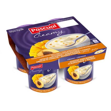 Iogurte Cremoso Damasco e Manga Pack 4x125gr - Supermercado - Lacticinios