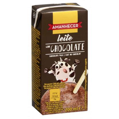 Leite Achocolatado Amanhecer 200ml - Supermercado - Lacticinios