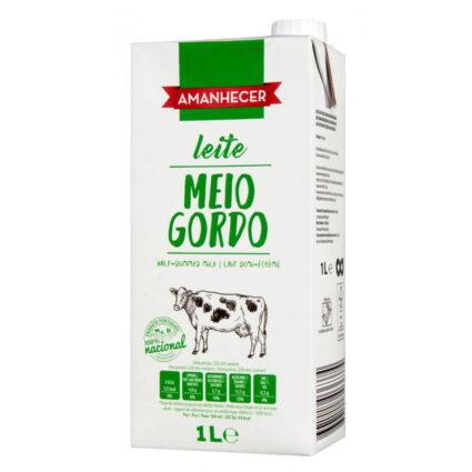 Leite UHT Meio Gordo Amanhecer - Supermercado - Lacticinios