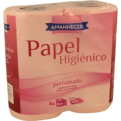 Papel Higiénico Amanhecer Folha Tripla Perfumada 4rolos - Supermercado - Higiene e beleza
