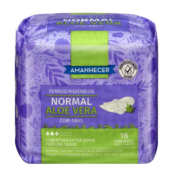 Penso Higiénico Normal com Abas Aloé Vera Amanhecer 16 un - Supermercado - Higiene e beleza