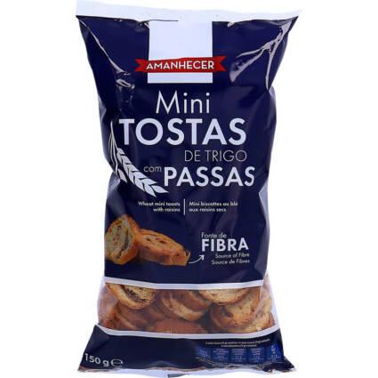 Mini Tostas de Trigo com Passas Amanhecer - Supermercado - Bolachas