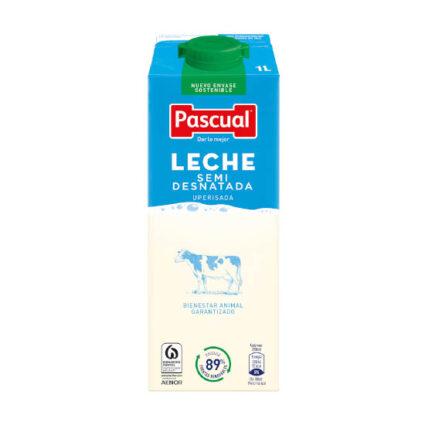 Leite Meio Gordo Pascual 1 L - Supermercado - Lacticinios