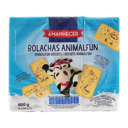 Bolachas Animal Fun Amanhecer (3x200gr) - Supermercado - Bolachas