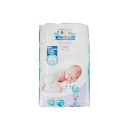 Fraldas Amanhecer Tamanho 2 (3-6kg) 60un - Supermercado - Bebés