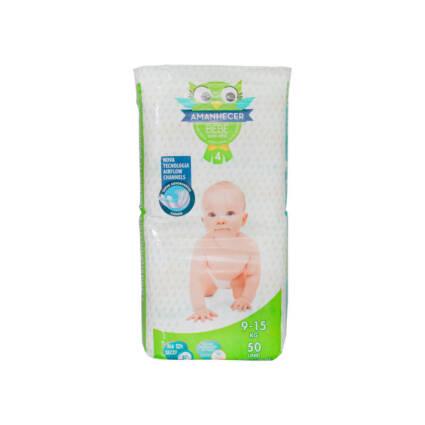 Fraldas Amanhecer Tamanho 4 (9-15kg) 50un - Supermercado - Bebés