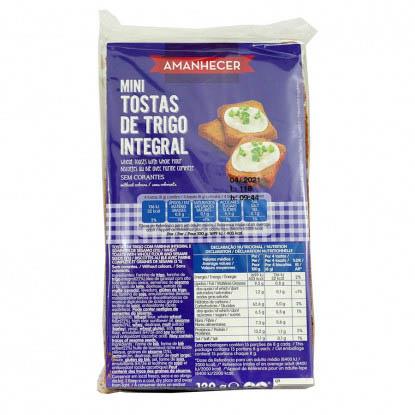 Mini Tosta Integral Amanhecer - Supermercado - Bolachas