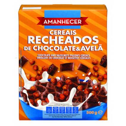 Cereais amanhecer recheado avelã e chocolate 500gr - Supermercado - Mercearia