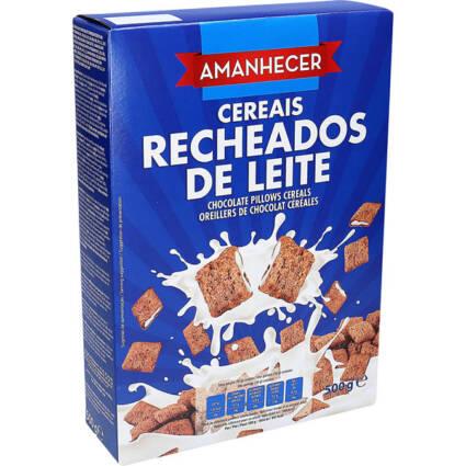 Cereais Amanhecer Recheados de Leite - Supermercado - Mercearia