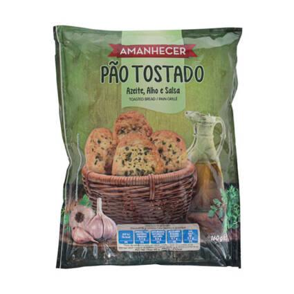 Pão Tostado com Azeite e Alho Amanhecer - Supermercado - Bolachas