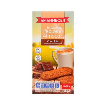 Bolachas Pequeno Almoço chocolate 300gr (6x50gr) - Supermercado - Bolachas