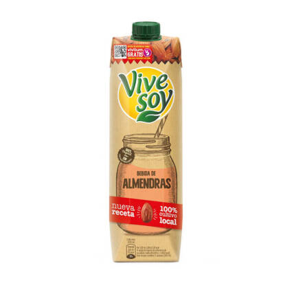 Vivesoy - Bebida de Amendoas sem acucar 1L - Supermercado - Lacticinios