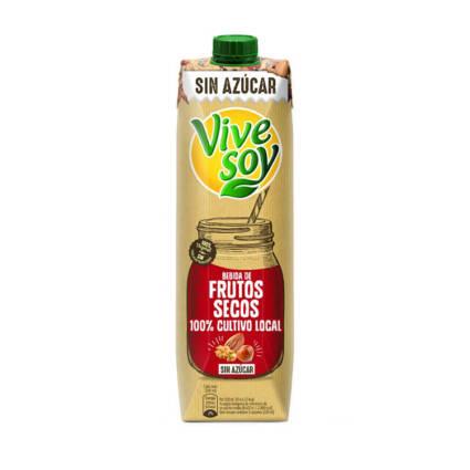 Vivesoy - Bebida de frutos secos sem acucar 1L - Supermercado - Lacticinios
