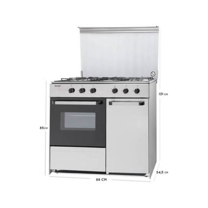 Fogão BECKEN S 9055 IX A (55 L - Gás Butano-Propano - Inox) - Grandes Eletrodomésticos - Fogões