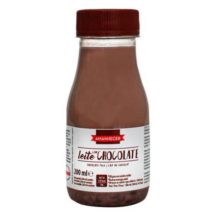 Leite Achocolatado Amanhecer GARRAFA 200ml - Supermercado - Lacticinios